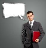 Бизнесмен с пузырем речи Стоковые Фотографии RF
