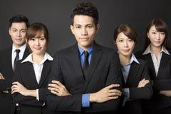 бизнесмен с успешной командой дела стоковое фото