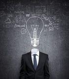 Бизнесмен с шариком в голове Стоковая Фотография