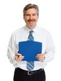 Бизнесмен с clipboard Стоковое фото RF