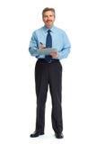 Бизнесмен с clipboard Стоковые Изображения RF