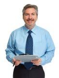 Бизнесмен с clipboard Стоковое Изображение