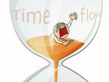 Бизнесмен с sandglass Стоковое фото RF