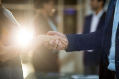 Бизнесмен тряся руки с коллегой Стоковые Изображения RF
