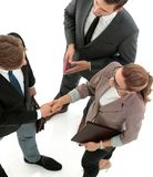 Бизнесмен тряся руку к партнеру Стоковые Фото