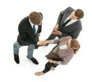 Бизнесмен тряся руку к партнеру Стоковое Фото