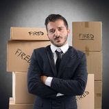 Бизнесмен увольнянный от работы стоковая фотография