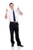 Бизнесмен указывая вверх Стоковое Изображение