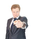 бизнесмен указывая вы Стоковое фото RF