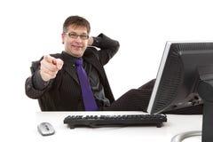 бизнесмен указывая вы Стоковая Фотография RF