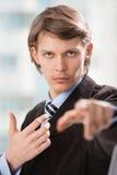 бизнесмен указывая вы Стоковое Изображение RF