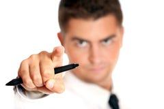 бизнесмен указывая кто-то молодое Стоковое Фото