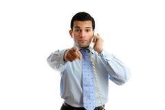 бизнесмен указывая профессионал Стоковое Фото