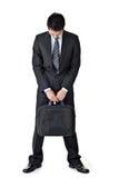 бизнесмен унылый стоковое изображение