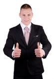 Бизнесмен усмехаясь с совсем справедливо Стоковое Изображение RF