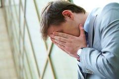 бизнесмен утомлял стоковое изображение rf