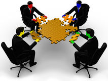 Бизнесмен 4 цветов Стоковая Фотография RF