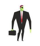 Бизнесмен чужеземца Босс UFO Марсианин в деловом костюме Чужеземец и Стоковые Фотографии RF
