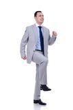 бизнесмен шагая вверх Стоковое Фото