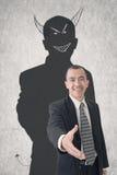 Бизнесмен дьявола Стоковые Фото