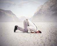 Бизнесмен любит страус Стоковые Фото