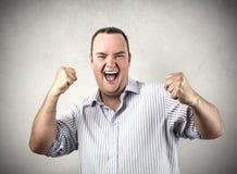 Бизнесмен jubilating Стоковое фото RF