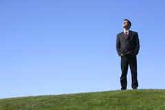 бизнесмен outdoors Стоковое Изображение