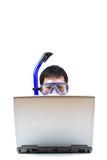 бизнесмен snorkeling Стоковое Изображение