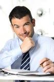 бизнесмен sympatical стоковое изображение rf