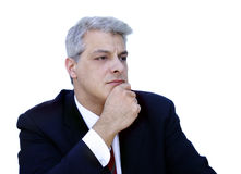 бизнесмен thinkful Стоковые Изображения RF