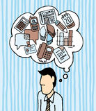 Бизнесмен Workaholic иконы многодельные/работа усилия Стоковые Изображения RF