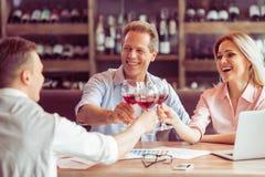 Бизнес-ланч на ресторане Стоковые Изображения