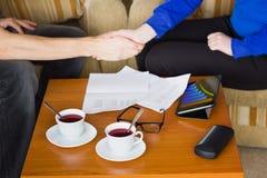 Бизнес-ланч с деловым партнером Стоковое Фото