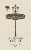Бизнес-ланч иллюстрация штока
