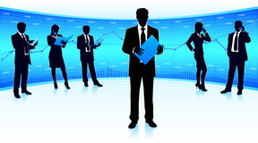 Бизнес-группа иллюстрация вектора