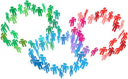 бизнес-группы соединяют social людей слияния Стоковая Фотография