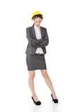 Бизнес-леди азиата инженера, предпринимателя или архитектора стоковое изображение