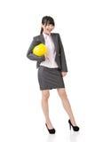Бизнес-леди азиата инженера, предпринимателя или архитектора стоковое фото rf