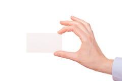 Бизнес-леди вручая визитную карточку Стоковая Фотография
