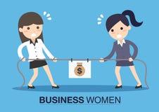 2 бизнес-леди в гонке карьеры Стоковые Изображения