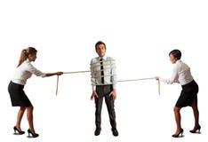 Бизнес-леди в конфликте Стоковое Изображение RF