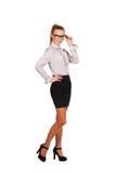 Бизнес-леди в росте стекел полном Стоковое Изображение