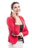 Бизнес-леди говоря на телефоне Стоковое Изображение RF