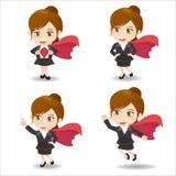 Бизнес-леди действует как superwoman бесплатная иллюстрация