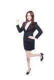 Бизнес-леди делает кулак Стоковые Изображения