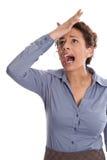 Бизнес-леди изолированная детенышами теряла ее концентрацию - удар Стоковые Фото