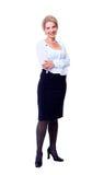Бизнес-леди. Изолированный над белизной Стоковая Фотография RF