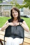 Бизнес-леди и портфель Стоковые Изображения RF