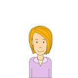 Бизнес-леди коммерсантки белокурым милым изолированная портретом Стоковые Фотографии RF