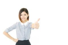 Бизнес-леди наслаждаясь успехом Стоковые Фотографии RF